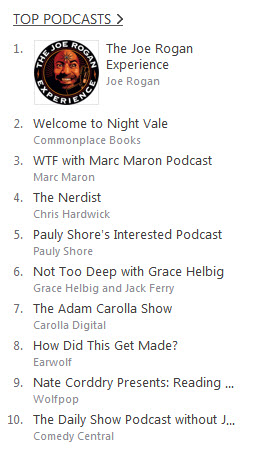 iTunes Top Comedy Podcasts